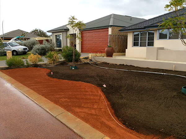 Front Lawn Garden Before